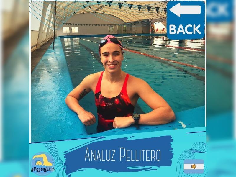 """Anita Pellitero regresó hoy a entrenar a la pileta de Pico FBC: """"Y un día volvimos a la pile, al club de toda la vida, estoy feliz"""""""