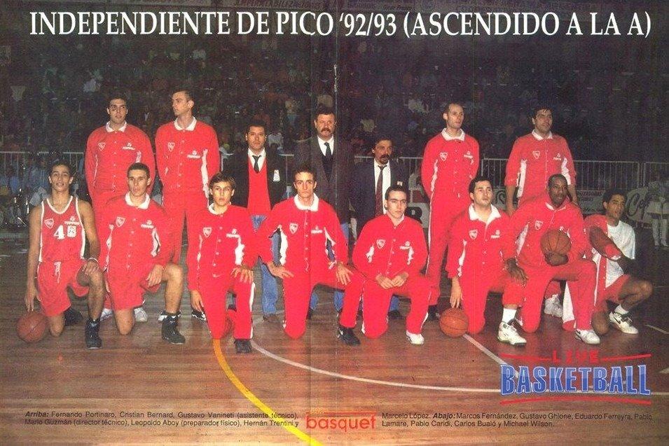 Hoy se cumplen 27 años del ascenso de Sportivo Independiente a la Liga Nacional de Básquetbol