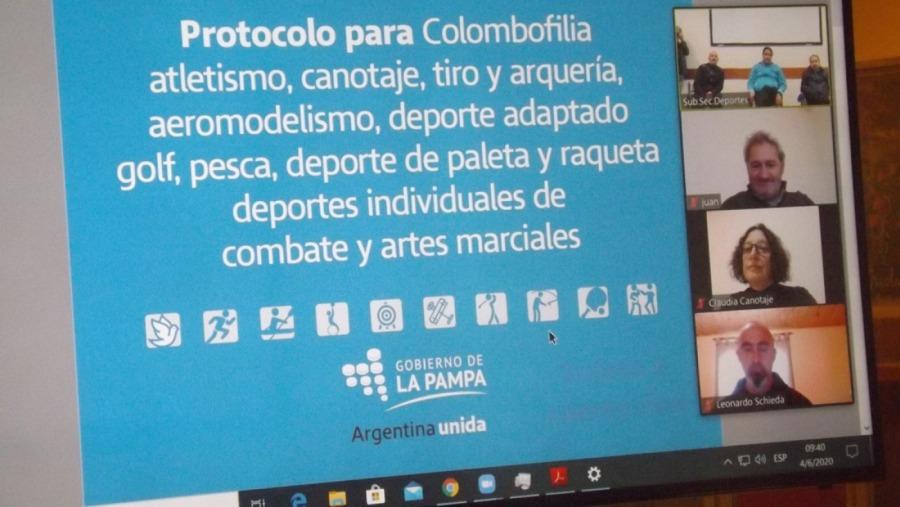 """La subsecretaría de Deportes de La Pampa presentó los protocolos de las nuevas actividades habilitadas: """"Esto es posible gracias al estatus sanitario que tiene la Provincia"""""""