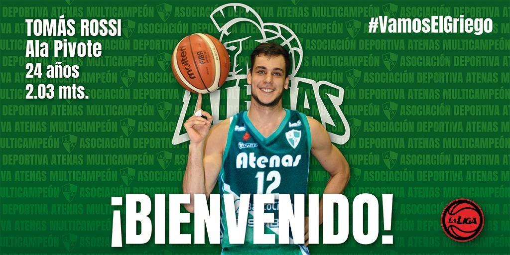 El basquetbolista Tomás Rossi es nuevo refuerzo de Atenas de Córdoba