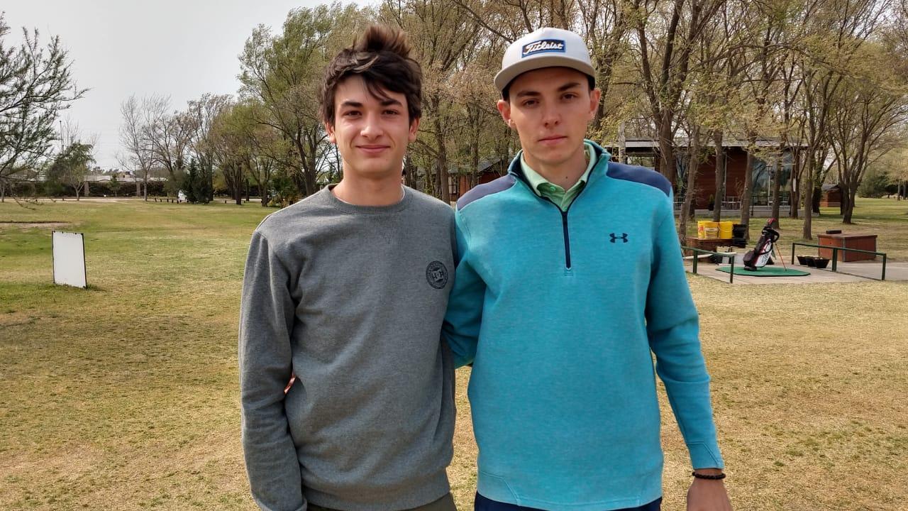 Los jóvenes golfistas Isidoro Castaño y Genaro Knaus harán su experiencia en Estados Unidos