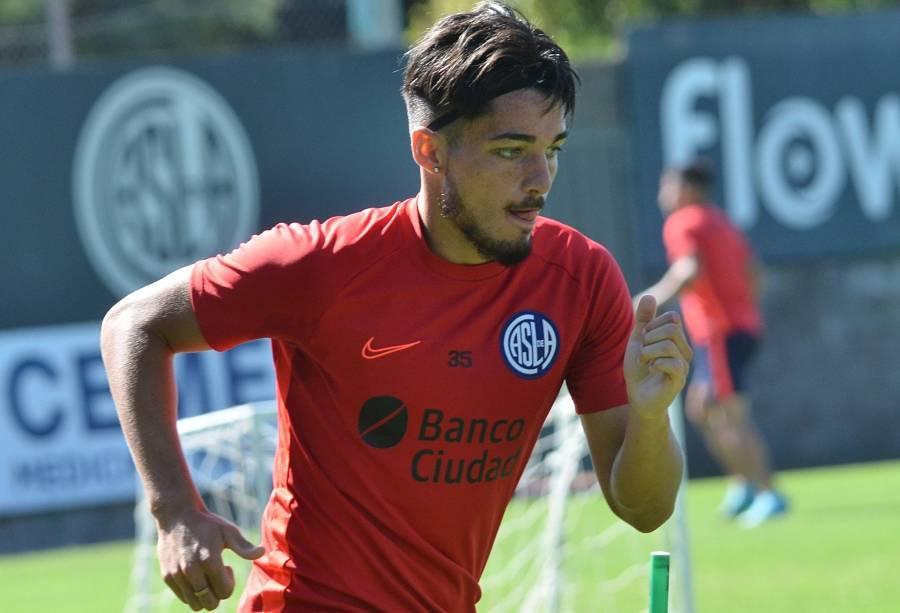 Matías Palacios recibió el alta y volvió a los entrenamientos con San Lorenzo