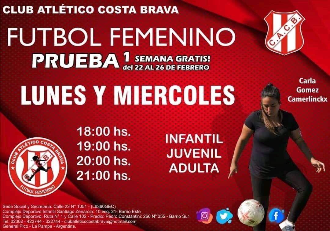 Hoy empiezan las clases de fútbol femenino en Costa Brava