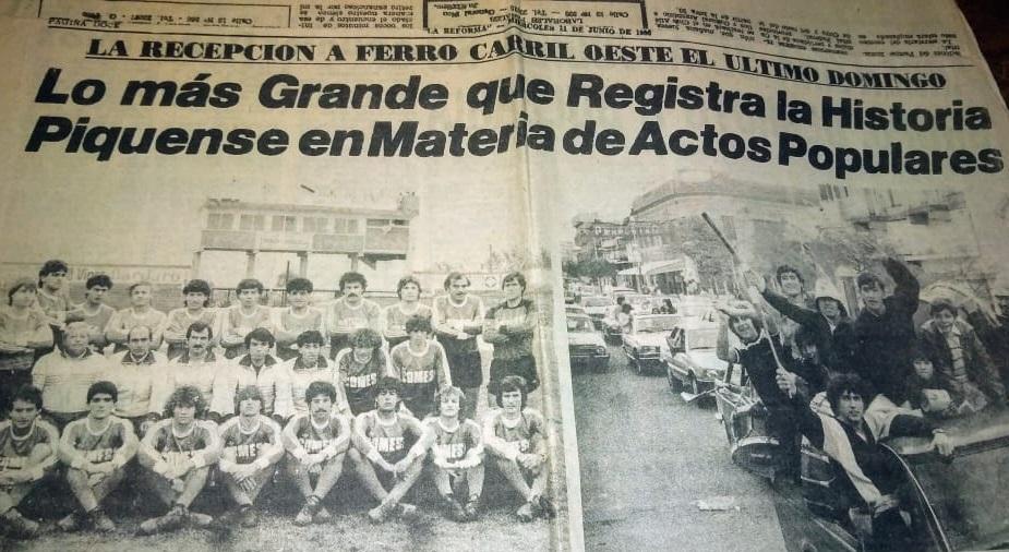 RECUERDO HISTÓRICO: Hoy se cumplen 35 años del ascenso de Ferro de Pico al Nacional B