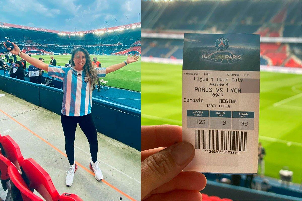 La basquetbolista piquense, Regina Carosio, cumplió su sueño de ver a Leo Messi jugar en París