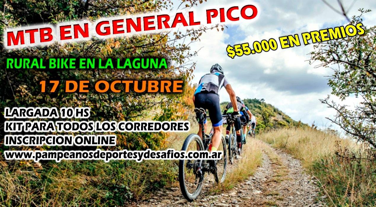 """Abren las preinscripciones para la """"Rural Bike"""" que se realizará el próximo domingo en la Laguna de General Pico"""